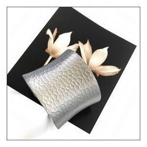 NEW Sterling Forever Hammered Cuff Bracelet